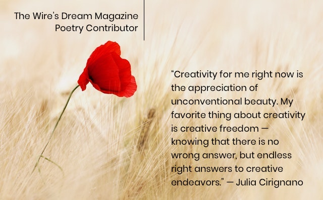 TWD Magazine 3rd Collection Interview: Julia Cirignano — Poetry Contributor, Author Of 'White Wine and Medical Marijuana'