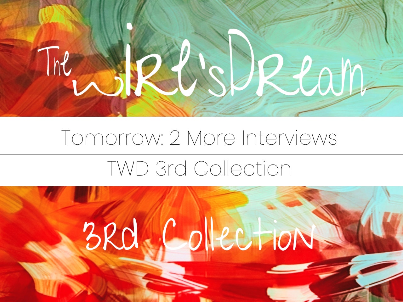 All! Tomorrow, 2 more interviews! #3rdCollection 🙃🤓